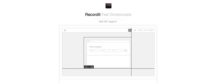 Нужны короткие и быстрые скринкасты? Вам поможет Recordit (Пока только для Mac OS X 10.8+)