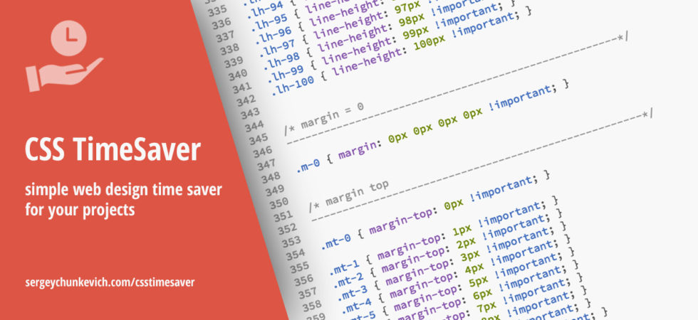 css timesaver - simple web design time saver for your projects